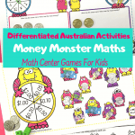counting money math center games coins notes